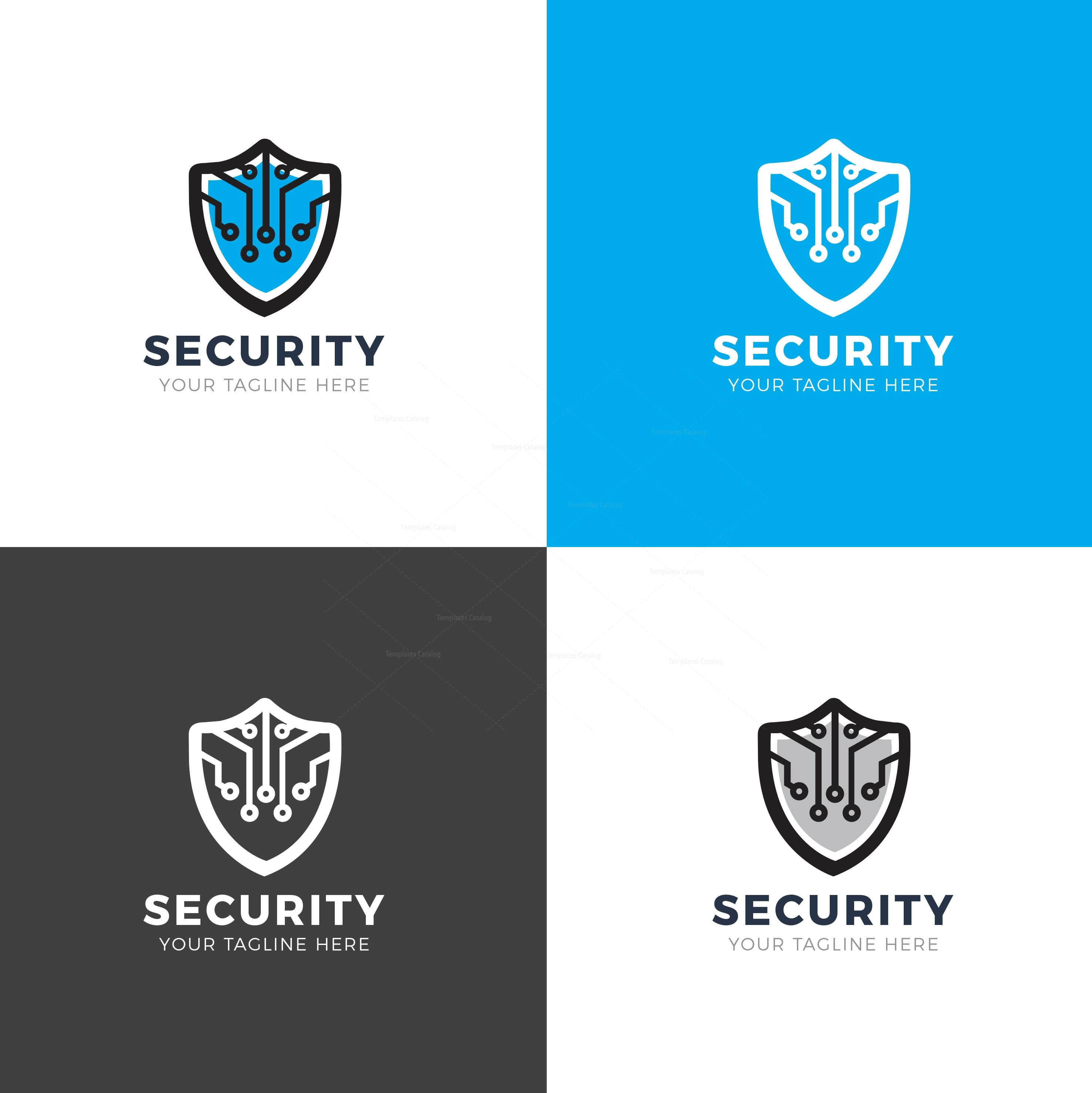 Security Shield Modern Logo Design Template 001913 - Template Catalog