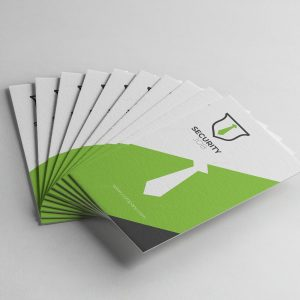 Security Vertical Business Card Design Template