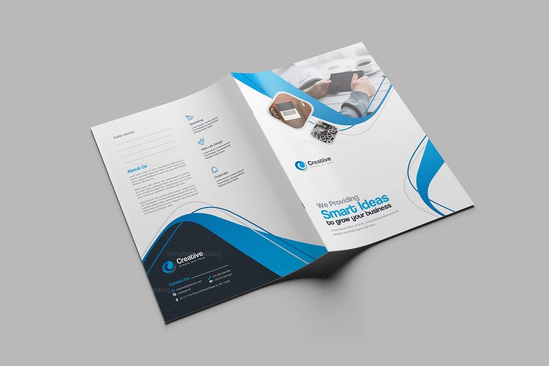 smart stylish presentation folder design template 001760