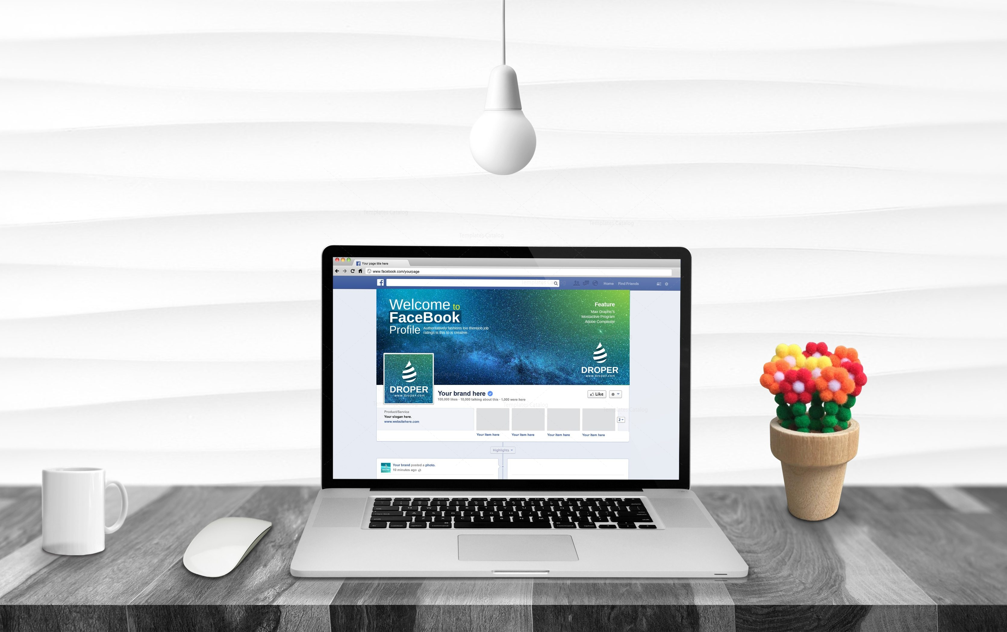 Space Facebook Timeline Cover Template 001755 - Template Catalog