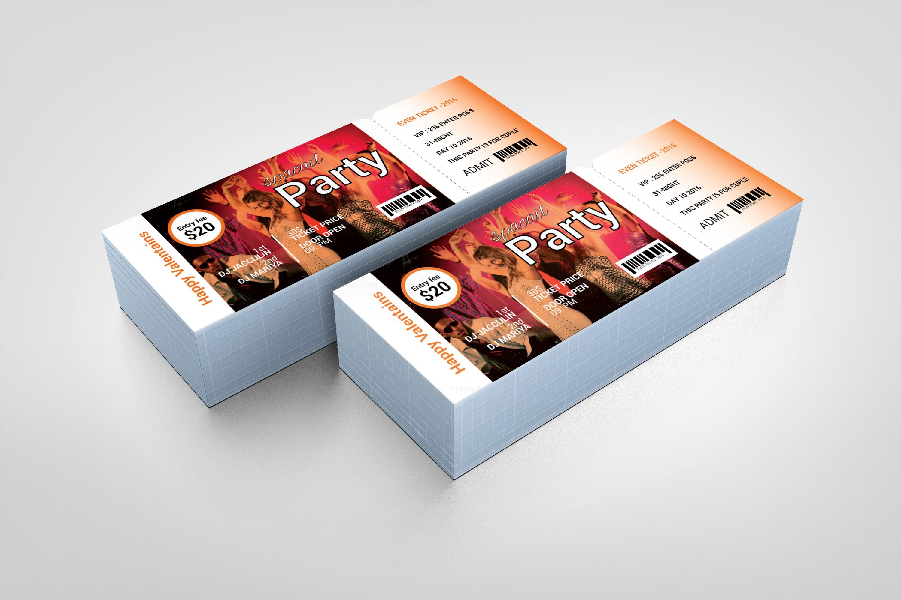 special party event ticket design template 001975 template catalog