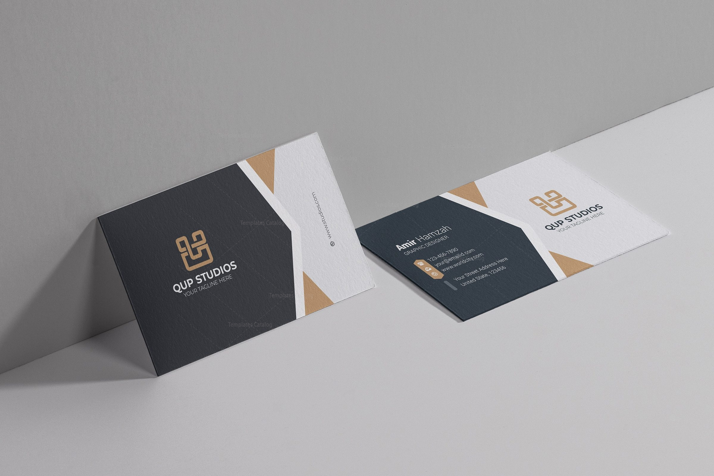 Studio Professional Business Card Design Template Template - Professional business card design templates