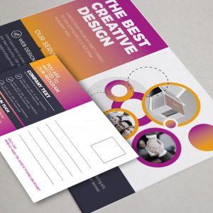 Stylish Corporate Postcard Design Template