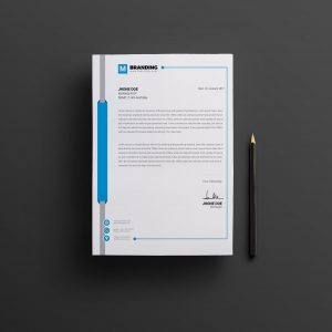 Stylish Creative Corporate Letterhead Design Template