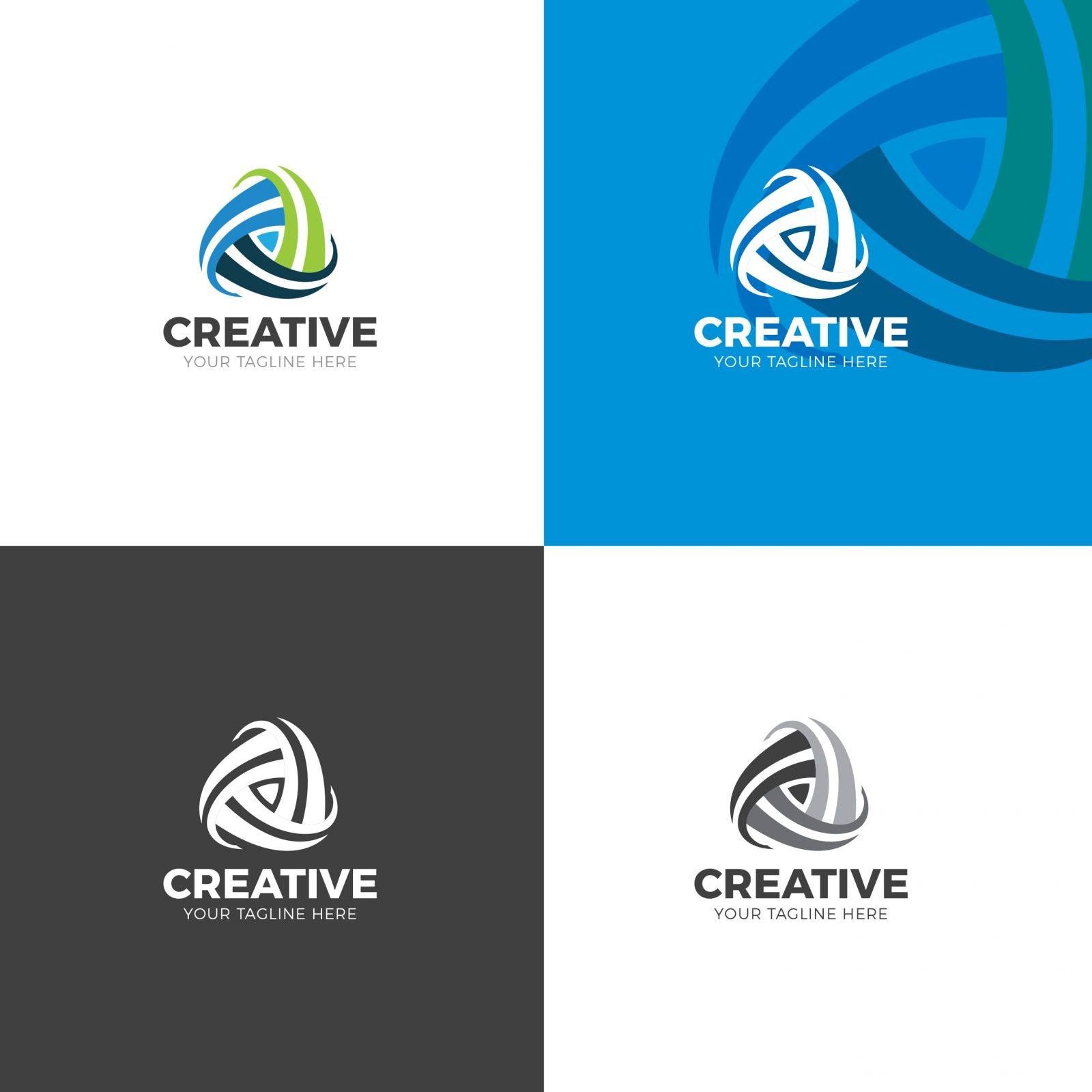 stylish modern logo design template 001901