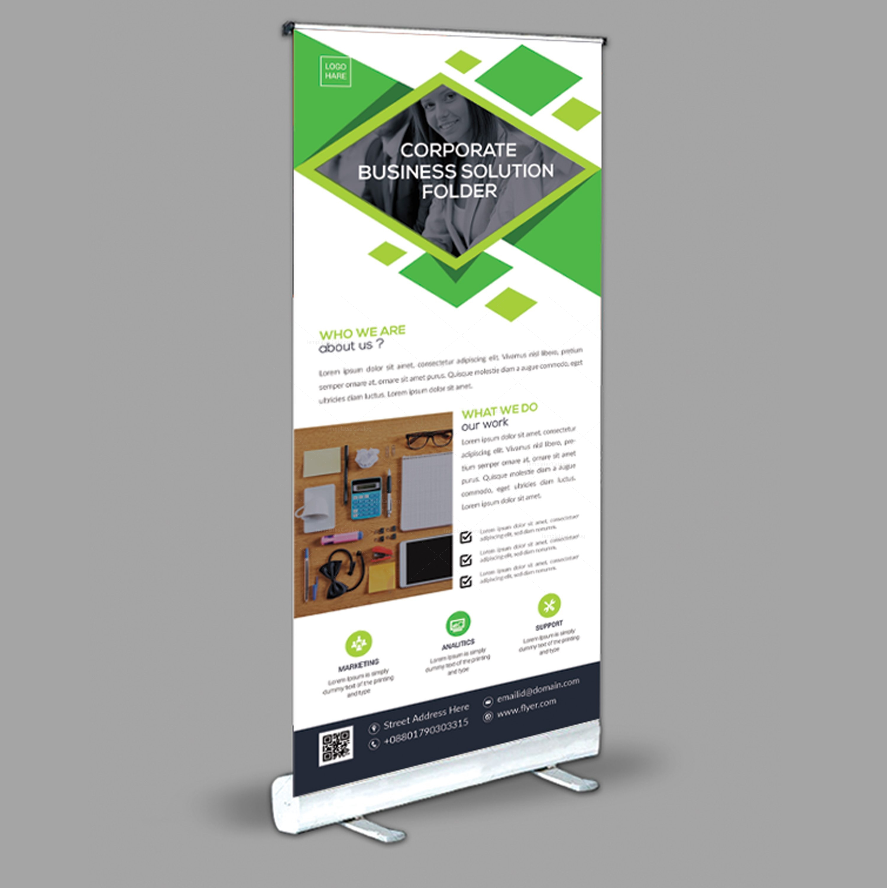 stylish roll up banner design template 001969 template catalog