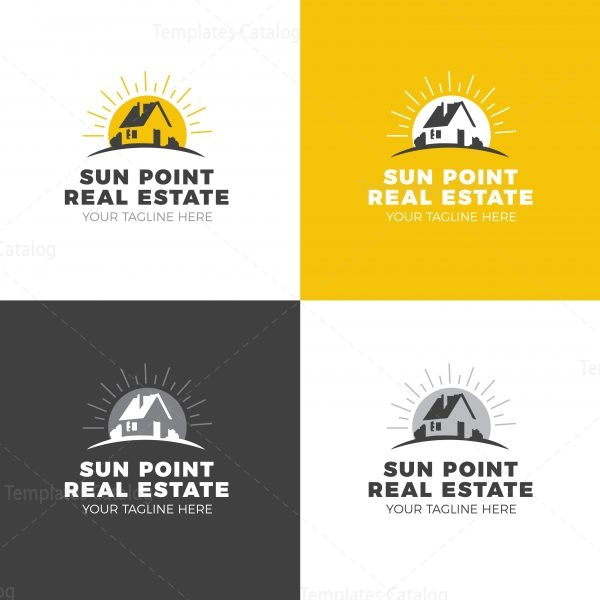 Sun Real Estate Creative Logo Design Template