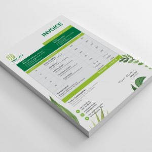 Three Leaf Professional Invoice Design Template