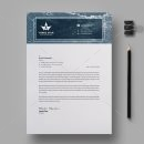 Three Star Professional Corporate Letterhead Template 1