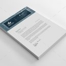 Three Star Professional Corporate Letterhead Template 2
