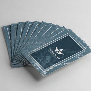Three Star Vertical Business Card Design Template