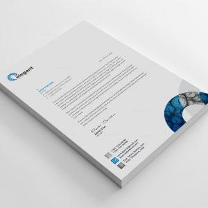 Time Creative Corporate Letterhead Design Template