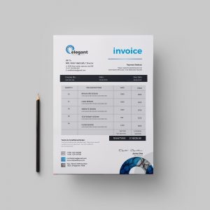 Time Elegant Creative Invoice Design Template