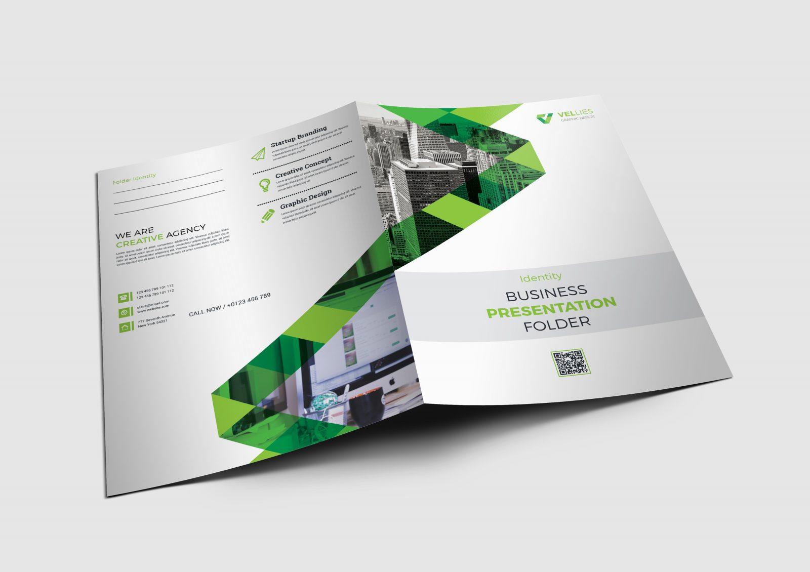 tokyo stylish presentation folder design template 001687
