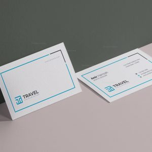 Travel Agency Business Card Design Template
