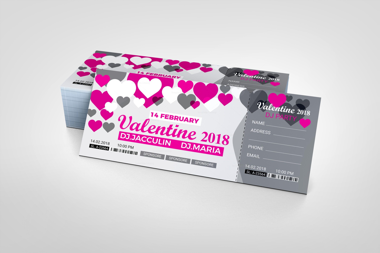 valentine s day event ticket design template 001973 template catalog