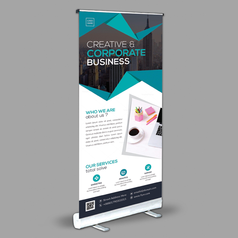Versatile Roll-Up Banner Design Template