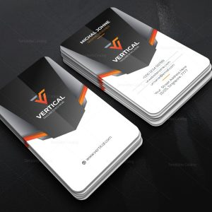 Vertical Company Business Card Design Template