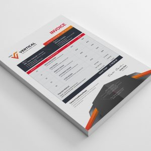 Vertical Professional Corporate Invoice Template