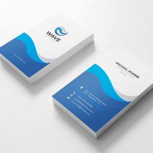 Wave Vertical Business Card Design Template