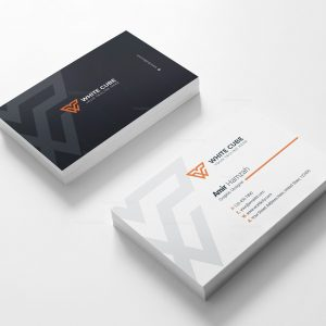 White Cube Business Card Design Template