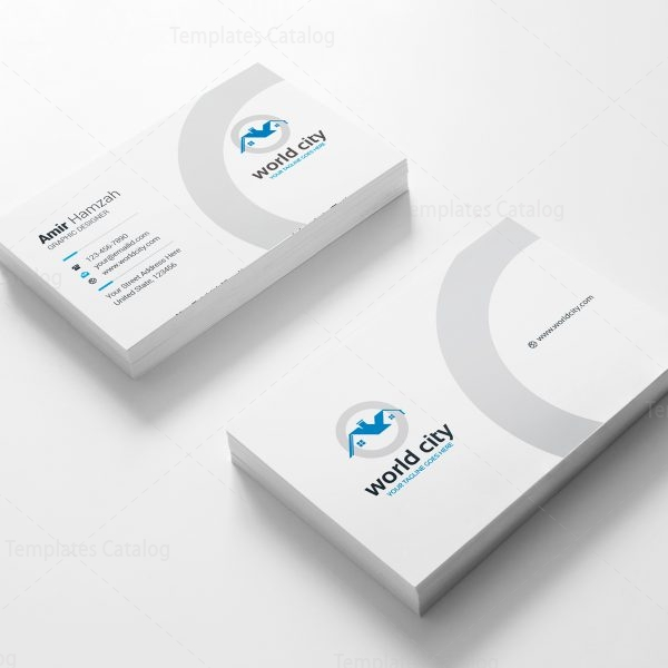 World City Real Estate Business Card Design Template 001780