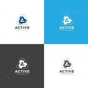 Active Triangle Creative Logo Design Template