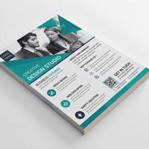 Azure Creative Business Flyer Design Template