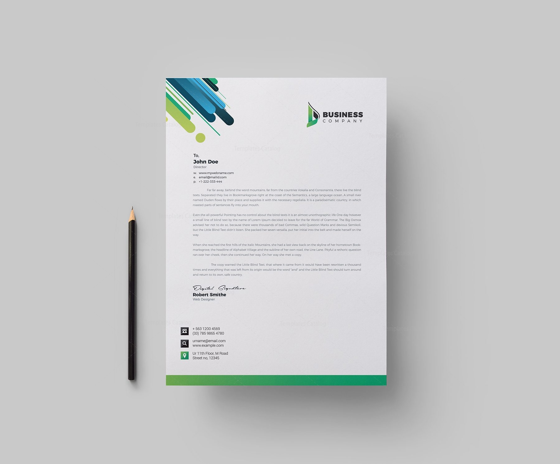 Best corporate letterhead design template 002165 template catalog best corporate letterhead design template 1 cheaphphosting Images