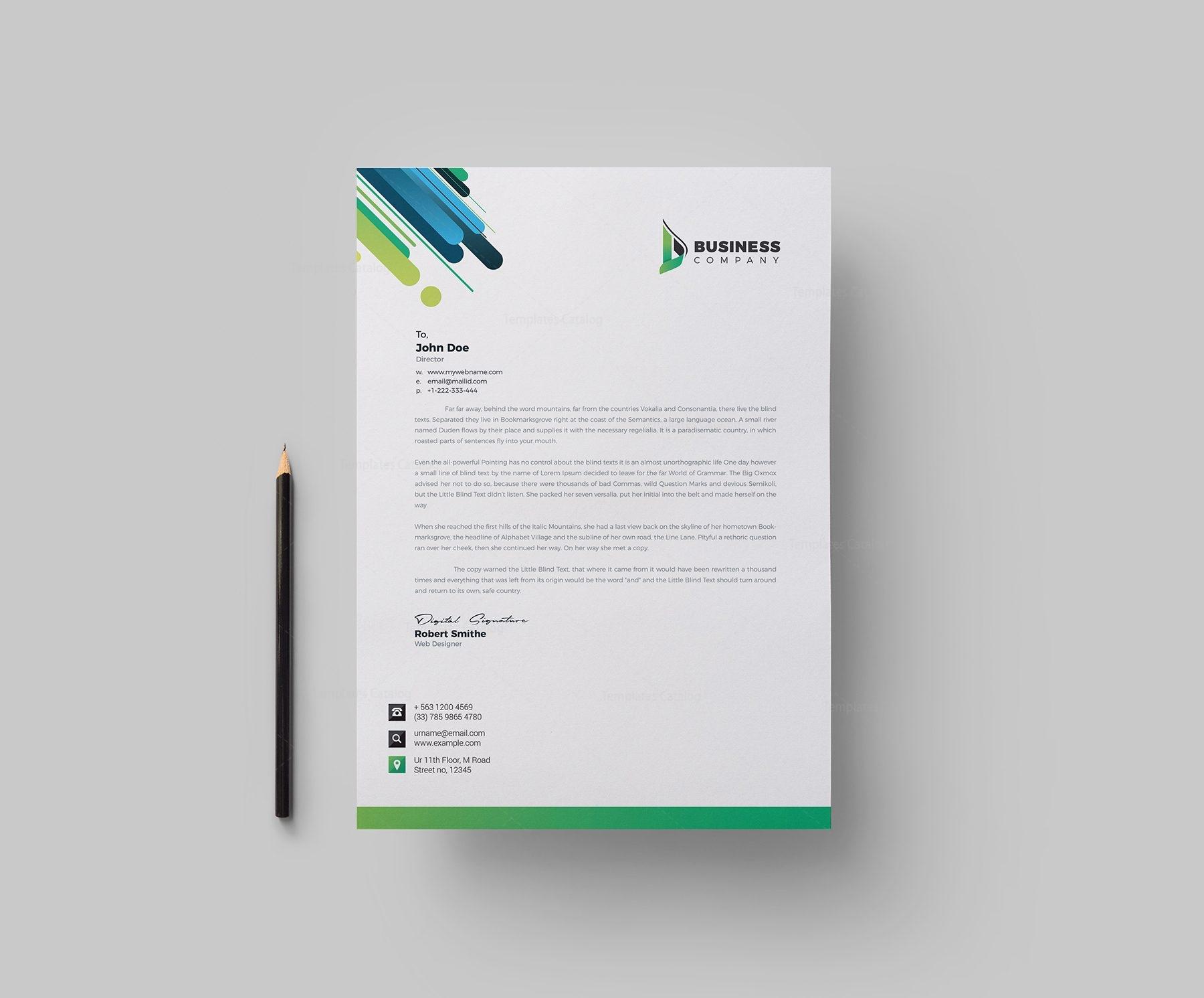 best corporate letterhead design template 002165 template catalog