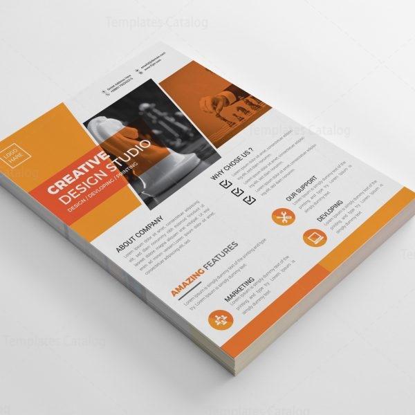 Chess Modern Business Flyer Design Template 001993