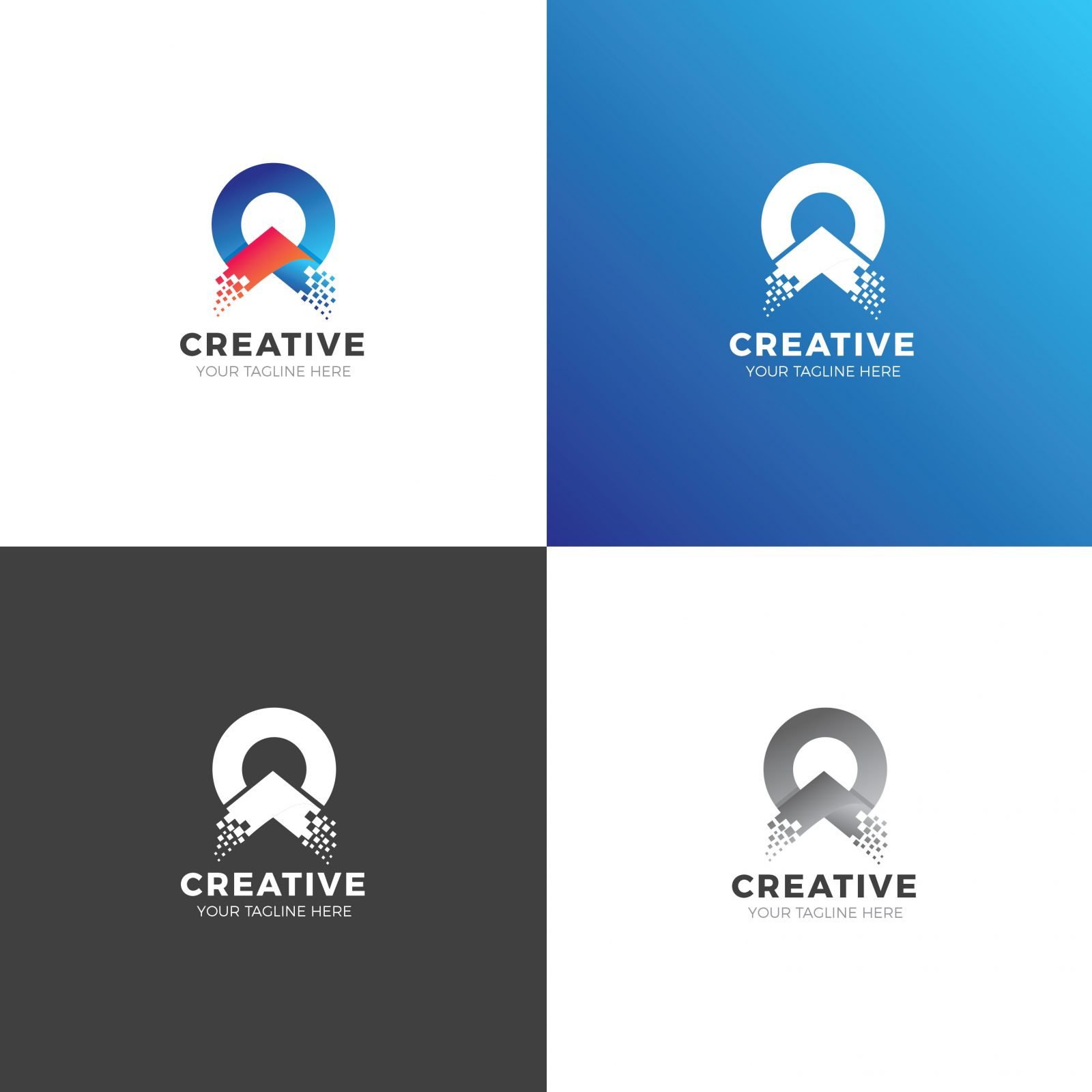 circle modern logo design template 002002