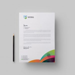 Colorful Corporate Letterhead Design Template