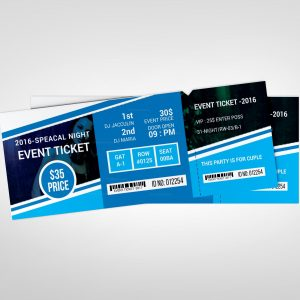 Creative Concert Event Ticket Design Template