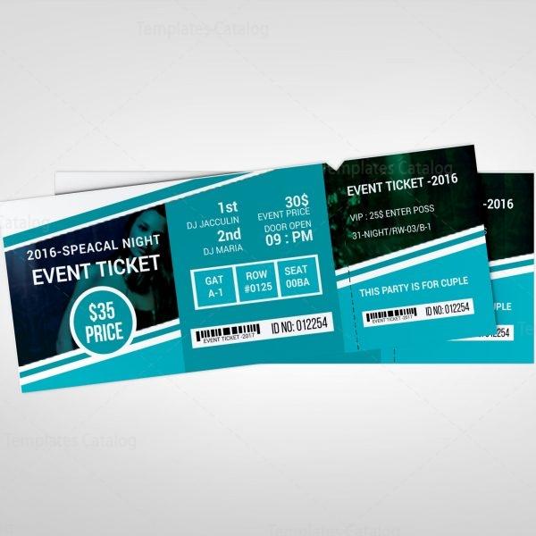 Creative Concert Event Ticket Design Template 001978 - Template Catalog