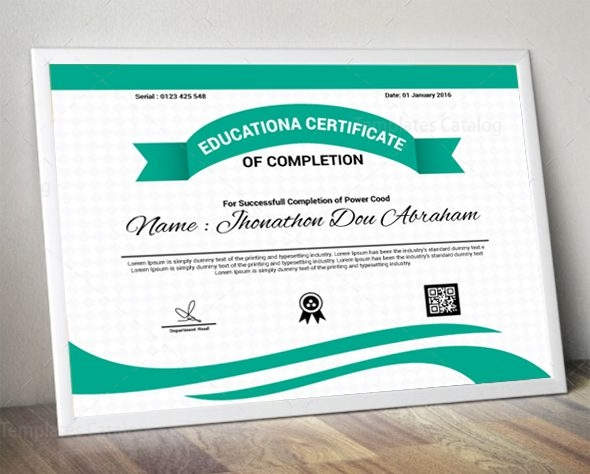 educational certificate design template 1