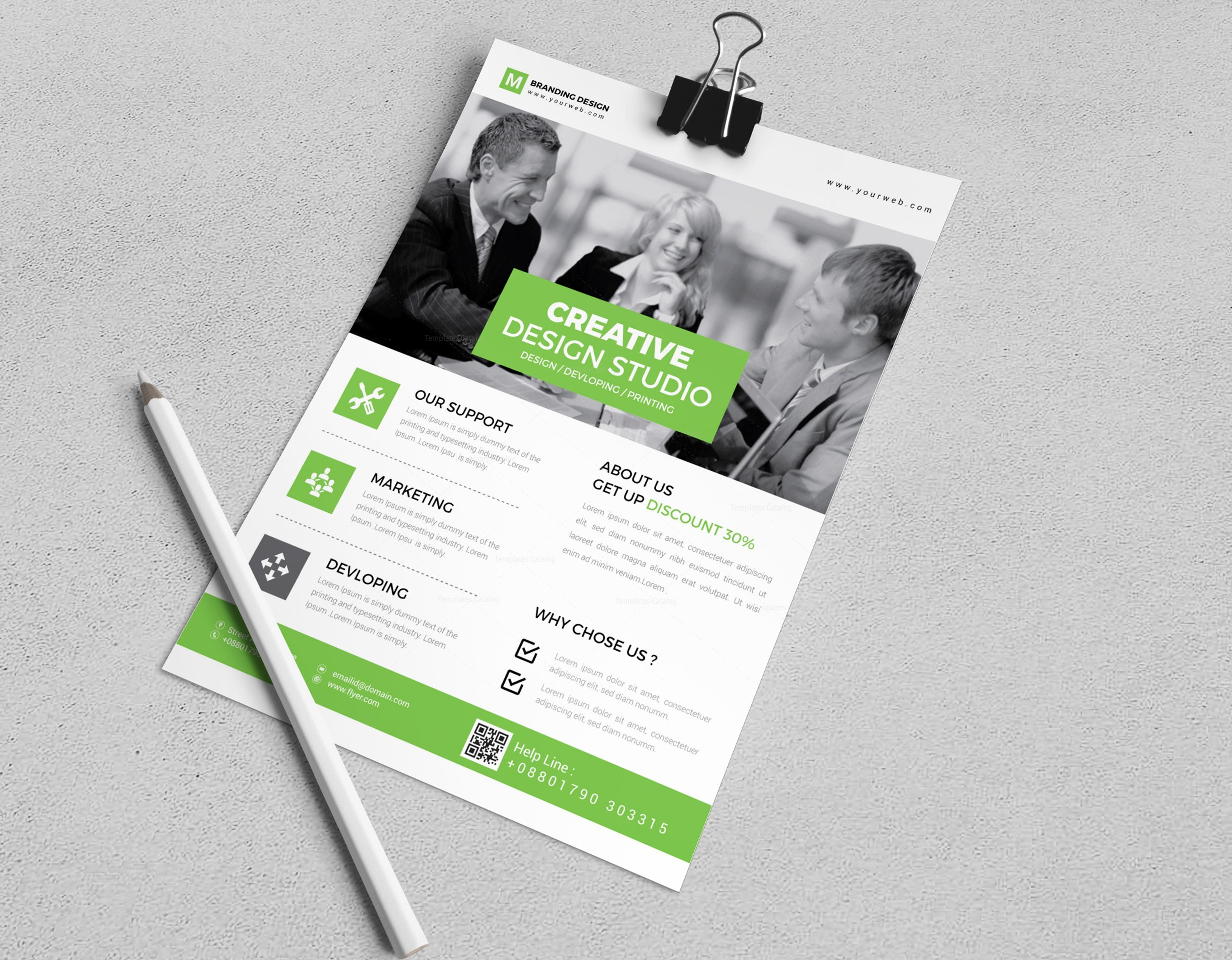granite creative corporate flyer design template 002029 template