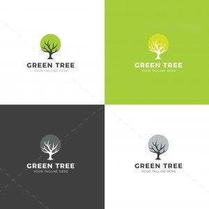 Green Tree Creative Logo Design Template