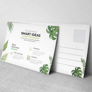 Leaf Corporate Postcard Design Template