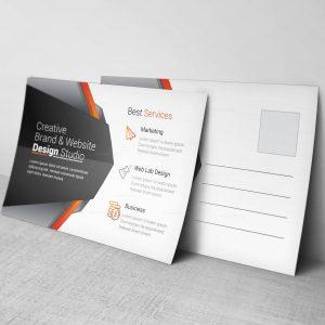 Market Corporate Postcard Design Template