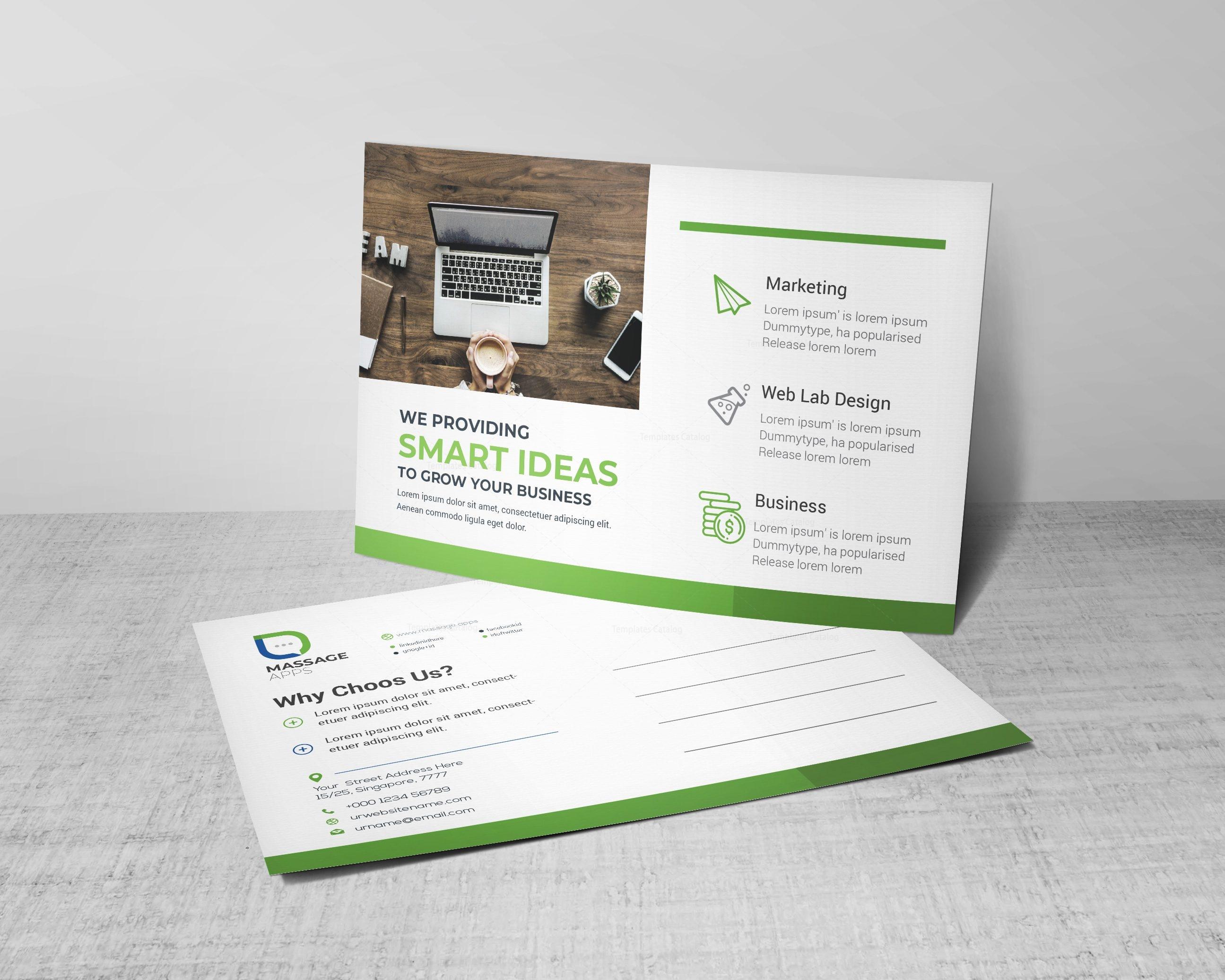 Message corporate postcard design template 002189 template catalog message corporate postcard design template maxwellsz
