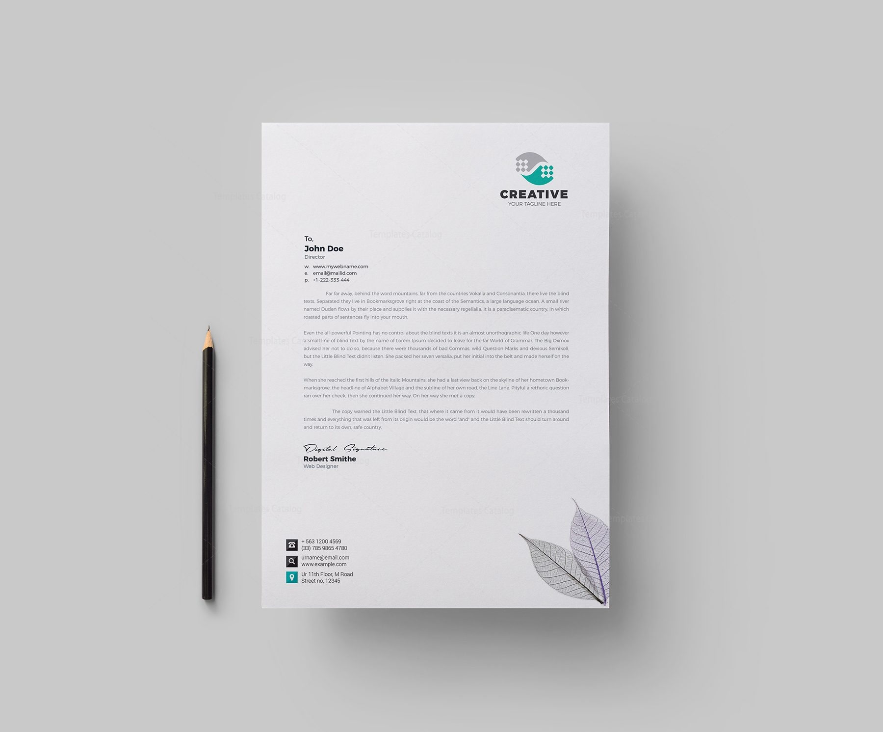 Modern corporate letterhead design template 002157 template catalog modern corporate letterhead design template 1 wajeb Choice Image