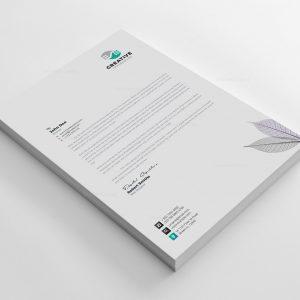 Modern Corporate Letterhead Design Template