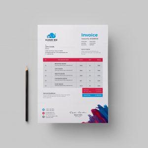 Paint Corporate Invoice Design Template