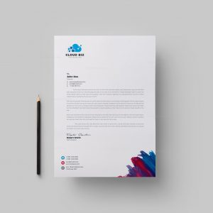 Paint Corporate Letterhead Design Template