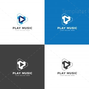 Play Music Creative Logo Design Template