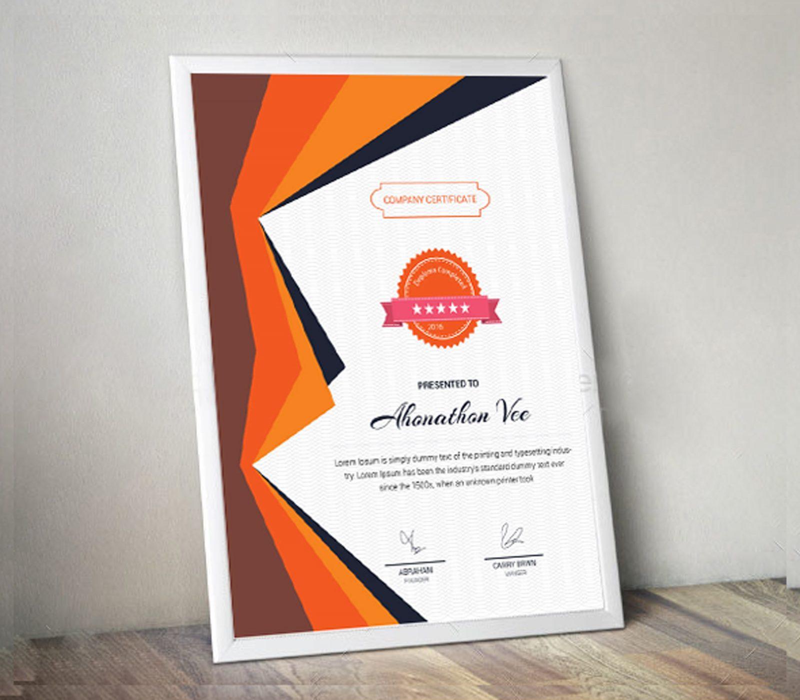 portrait certificate design template 002054 template catalog