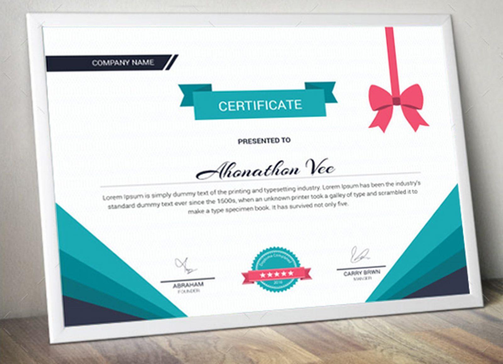 premium certificate design template 002053 template catalog