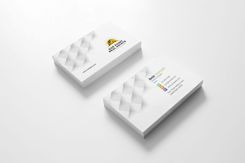 Real estate creative business card design template 002126 template real estate creative business card design template 2 colourmoves