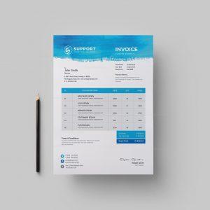 Serenity Corporate Invoice Design Template
